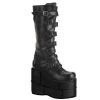 STACK-308 Black Faux Leather